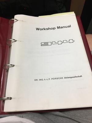 Porsche Factory 944 Workshop Manuals