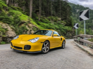 Porsche 911 (996) Turbo In Speed Yellow