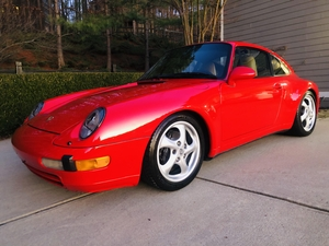 Porsche 993, One hot red head!