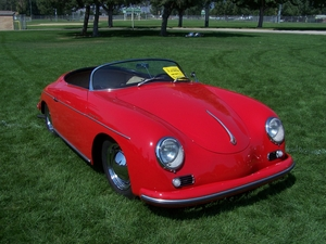1956 Super Speedster on the green