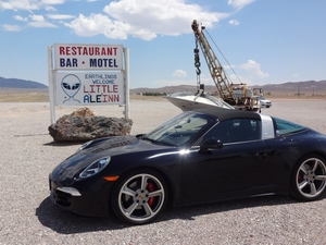 ExtraTerrestrial Highway/Area 51, NV 2014 Targa 4S