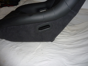 GTS Classics Black Leather Lollipop Seat
