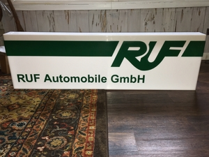 "Illuminated RUF Sign (52 1/2"" x 15"")"