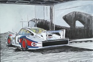 """Porsche 935/78 """"Moby Dick"""" Painting by Michael Ledwitz"""