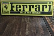 """Illuminated Authentic Ferrari Sales and Service Sign (55"""" x 16"""")"""