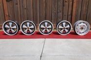 """1971 Porsche 15"""" x 6"""" Fuchs Wheels with 15"""" x 5.5"""" Spare"""