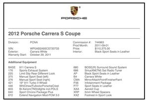3K-Mile 2012 Porsche 997.2 Carrera S Aerokit 6-Speed