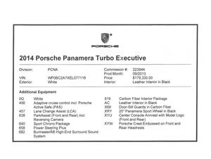 DT: 2014 Porsche Panamera Turbo Executive Tech Art Edition