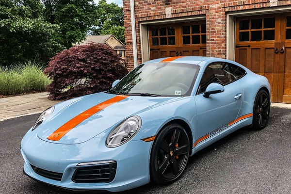 4K-Mile 2017 Porsche 991.2 Carrera PTS Gulf Blue