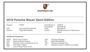 11K-Mile 2018 Porsche Macan Sport Edition