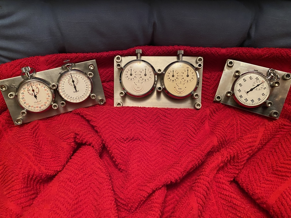 Collection of 5 Vintage Rally Timer Stopwatches