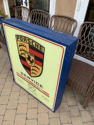 DT: Porsche 50 Jahre (year) Anniversary Double-sided Illuminated Sign