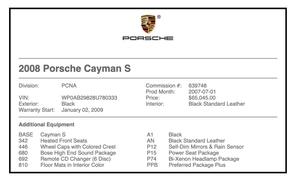 2008 Porsche Cayman S Racecar