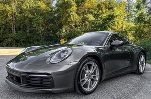2020 Porsche 992 Carrera 4 Aventurine Green Metallic