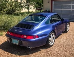 31K-Mile 1997 Porsche 993 Carrera 4S Zenith Blue