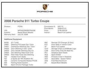 1-Owner 2008 Porsche 997 Turbo 6-speed