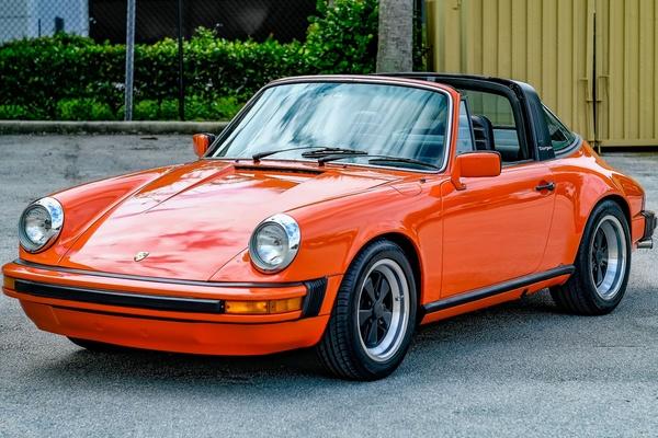1977 Porsche 911S Targa Euro-Spec Continental Orange