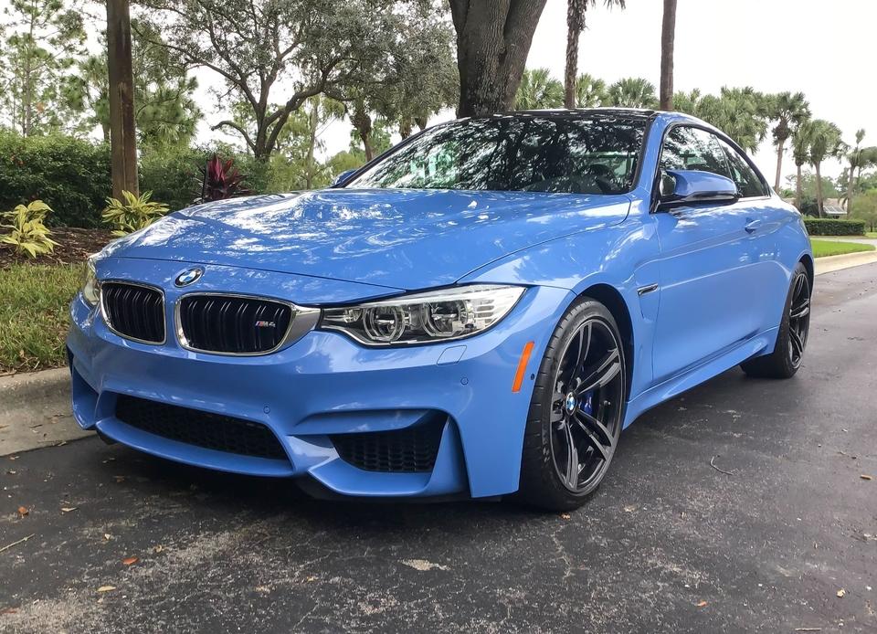 2016 BMW F82 M4 Yas Marina Blue Metallic