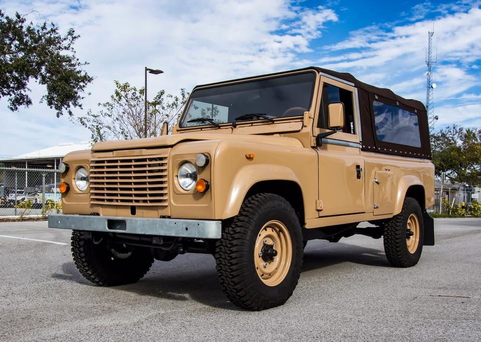 Restored 1987 Land Rover Defender 110 Soft-Top