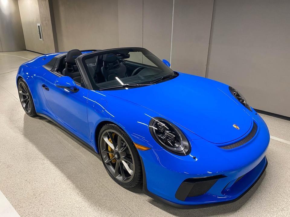 90-Mile 2019 Porsche 991 Speedster PTS Voodoo Blue