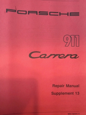 Original Porsche Air-Cooled 911 Factory Manuals