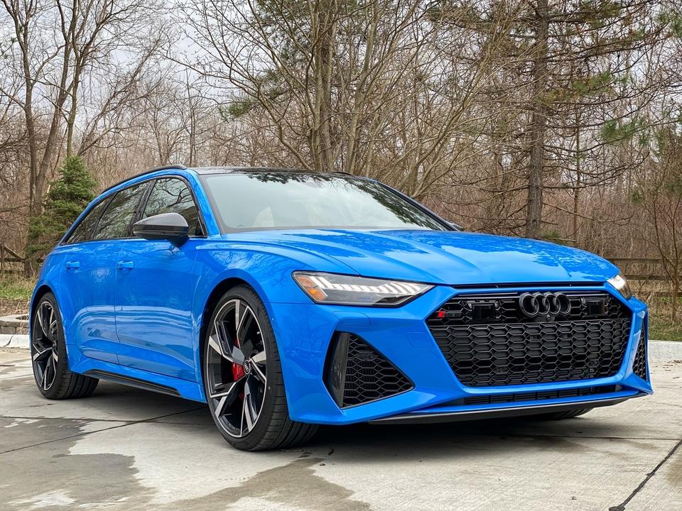 48-Mile 2021 Audi RS6 Avant Voodoo Blue   PCARMARKET