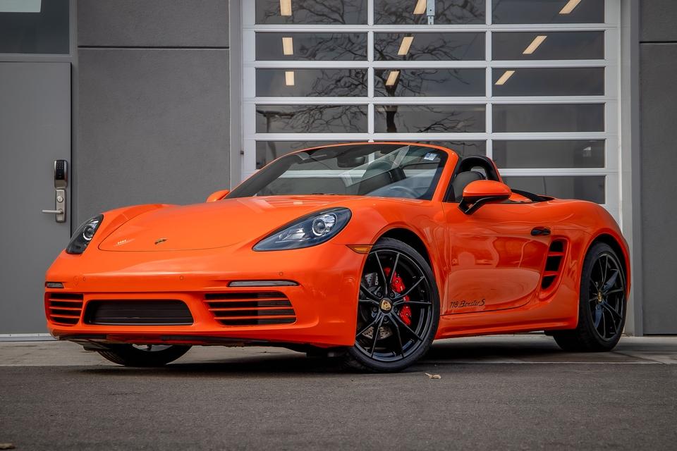 3k-Mile 2018 Porsche 718 Boxster S 6-Speed PTS Gulf Orange