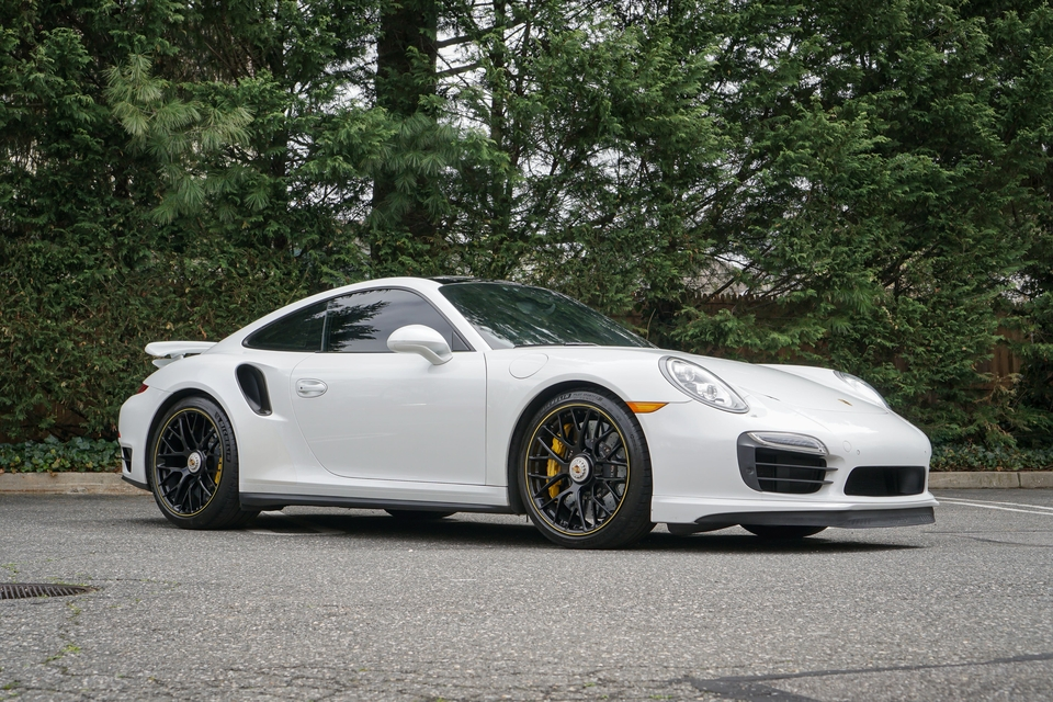 24k-Mile 2014 Porsche 991 Turbo S PTS Onyx White Metallic