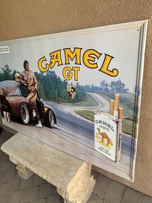 NO RESERVE - Rare IMSA Camel GT Porsche 935 Metal Sign (5' x 3')