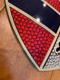 """Authentic Enamel Porsche Crest (12"""" X 15 1/2"""")"""