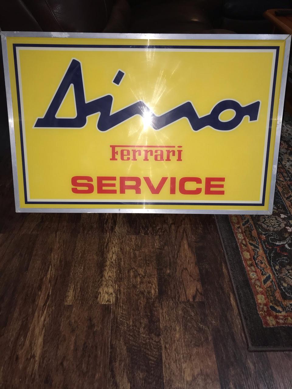 Authentic 1970s Illuminated Dino Ferrari Sign