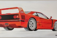 "DT: ""Ferrari F40"" Painting by Michael Ledwitz"