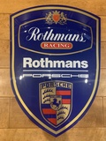 "Authentic Porsche Rothmans Crest (22"" x 16"")"