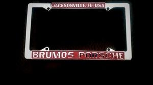 NO RESERVE - N.O.S Brumos Porsche License Plate Frame