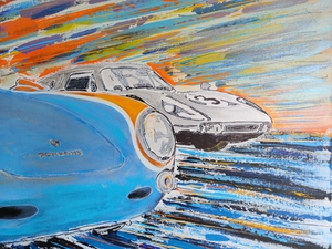 """DT: """"I'll Race You Home"""" Painting by Michael Ledwitz"""