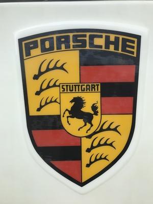 "Original Porsche Dealership Illuminated Display (49"" x 97"")"
