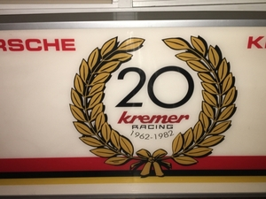 Kremer Racing 20th Anniversary Illuminated Sign (4' x 2')