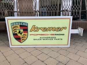 "DT: Side-Mounted Kremer Racing Sign (39 1/2"" x 20"")"
