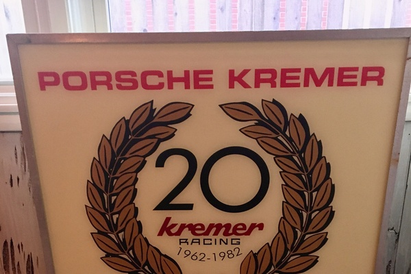 "DT: DOUBLE-SIDED KREMER RACING 80S ILLUMINATED SIGN (31.5"" X 31.5"")"