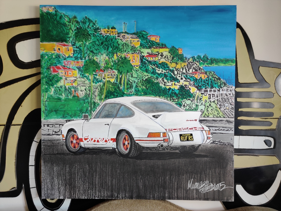 """DT: """"Let's Go Home"""" 911 Carrera RS Painting by Michael Ledwitz"""