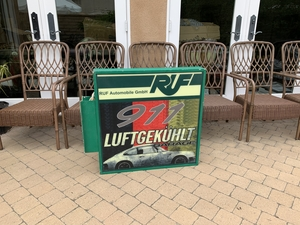 DT: Illuminated RUF 911 Luftgekühlt Garage Double-Sided Side-Mounted Sign