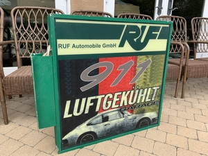 DT: Illuminated RUF 911 Luftgekühlt Garage Double-Sided Side-Mounted Sign