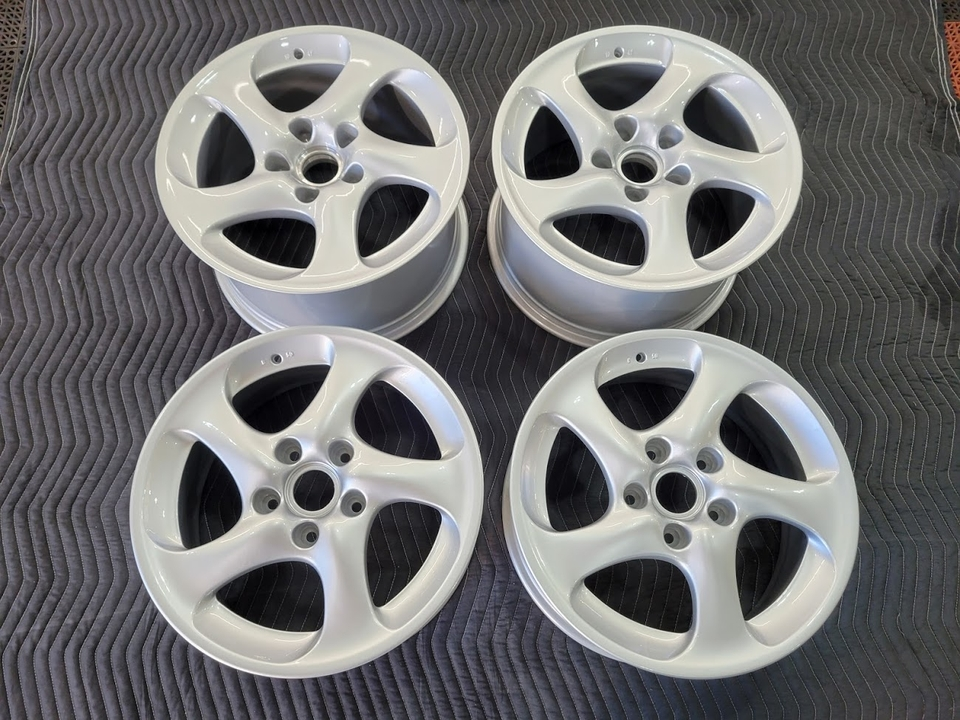 "OEM Porsche 18"" Turbo Twist Wheels"
