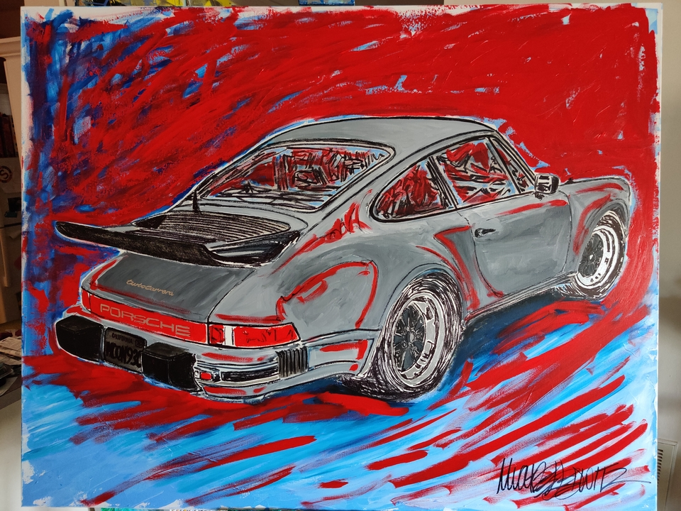 """""""McQueens 930"""" Painting by Michael Ledwitz"""