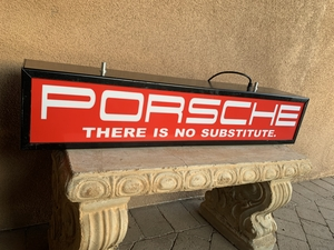 "Porsche ""There Is No Substitute"" Illuminated Sign (39"" x 8"")"