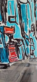 """""""NOW WE'RE TALKIN..."""" Painting by Michael Ledwitz (36"""" x 48"""")"""