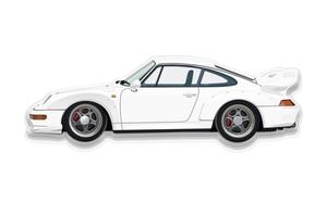 """NO RESERVE - Plexiglass Porsche 993 GT2 Art (35"""" x 12"""")"""