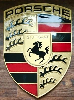 "Genuine European Porsche Aluminium Crest (16"" x 22"")"