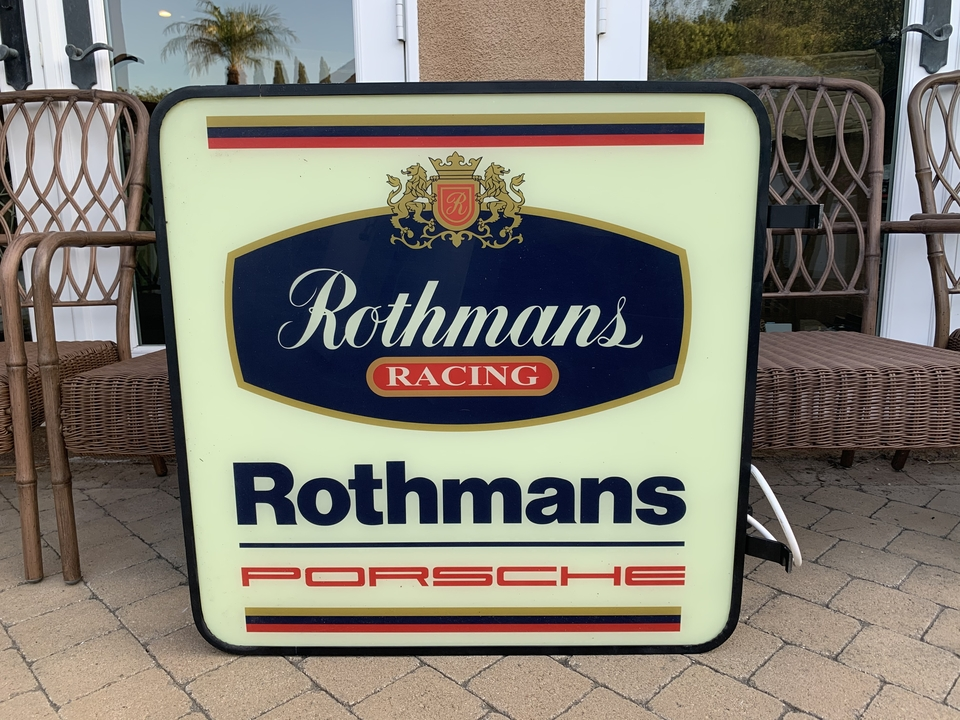"""Rothmans Double-sided Illuminated Sign (32"""" x 32"""")"""