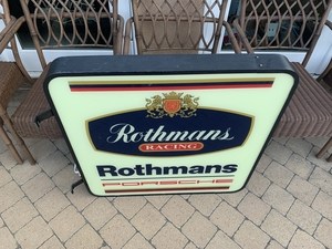 """DT: Rothmans Double-sided Illuminated Sign (32"""" x 32"""")"""